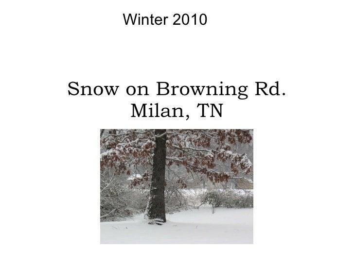 Snow on Browning Rd. Milan, TN Winter 2010
