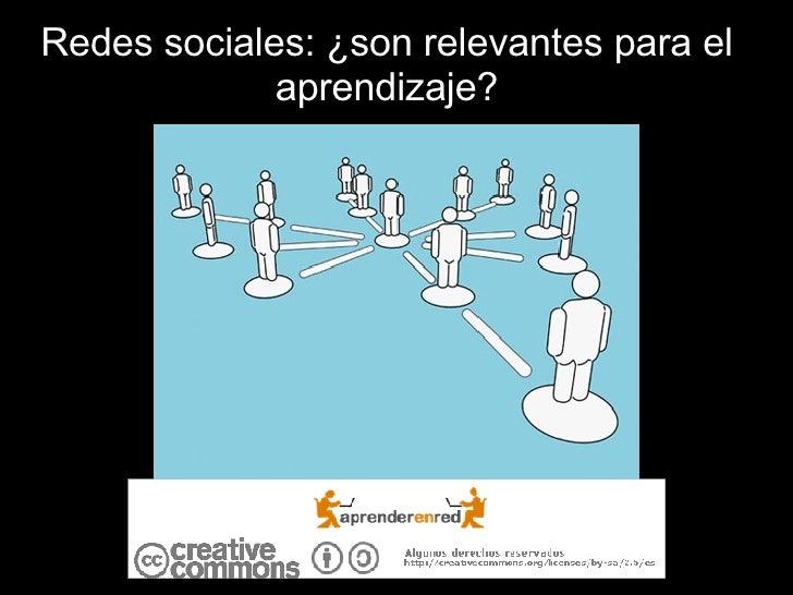 Redes sociales: ¿son relevantes para el aprendizaje?
