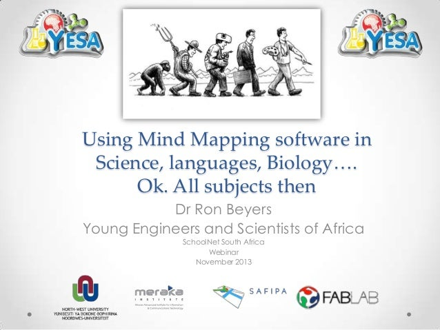 Using Mind Mapping software in Science, languages, Biology…. Ok. All subjects then Dr Ron Beyers Young Engineers and Scien...