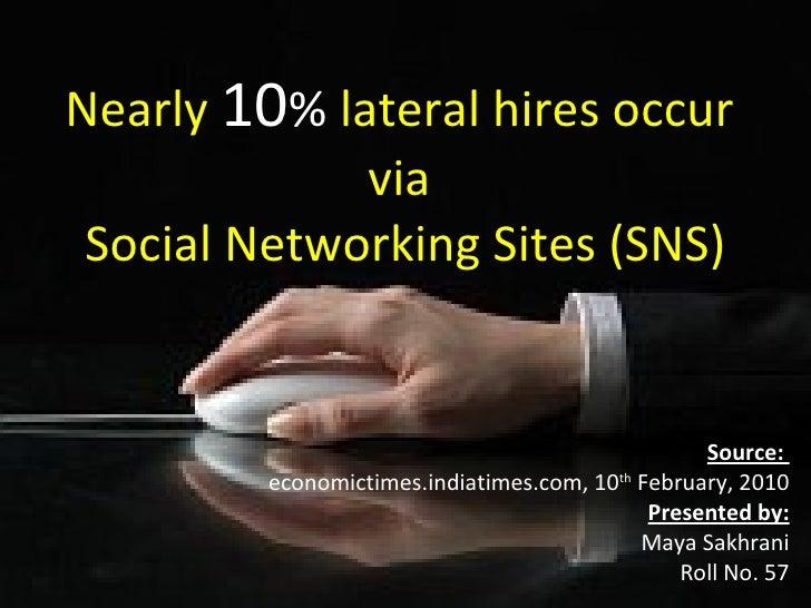 Social Networks for Recruitment