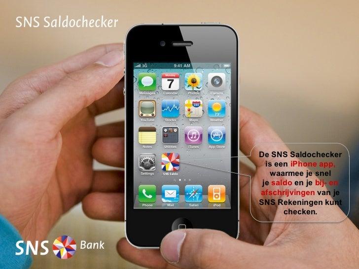 Demo SNS Saldochecker (voor iPhone)
