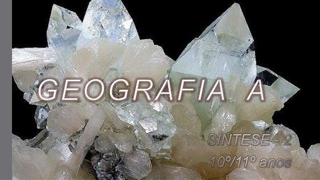 GEOGRAFIA A - Síntese 2