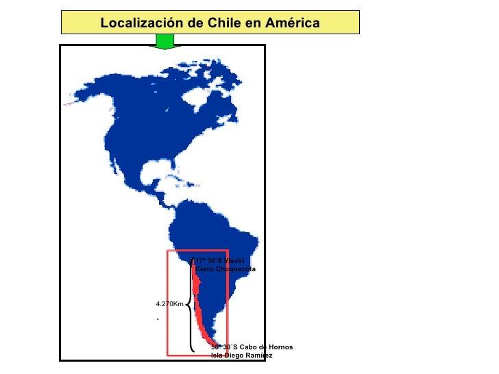 Chile Localizacion Geografica Localización de Chile en
