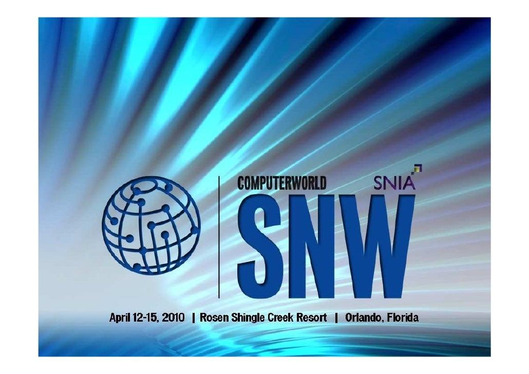 SNW Spring 10 Presentation