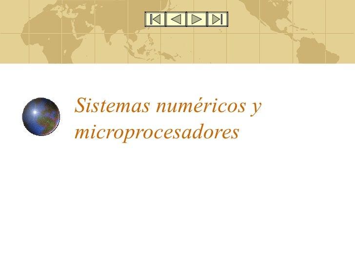Sistemas numéricos y microprocesadores