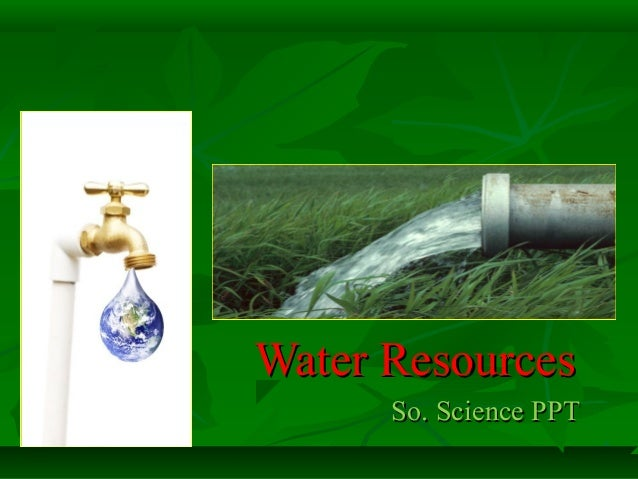Water Resources So. Science PPT