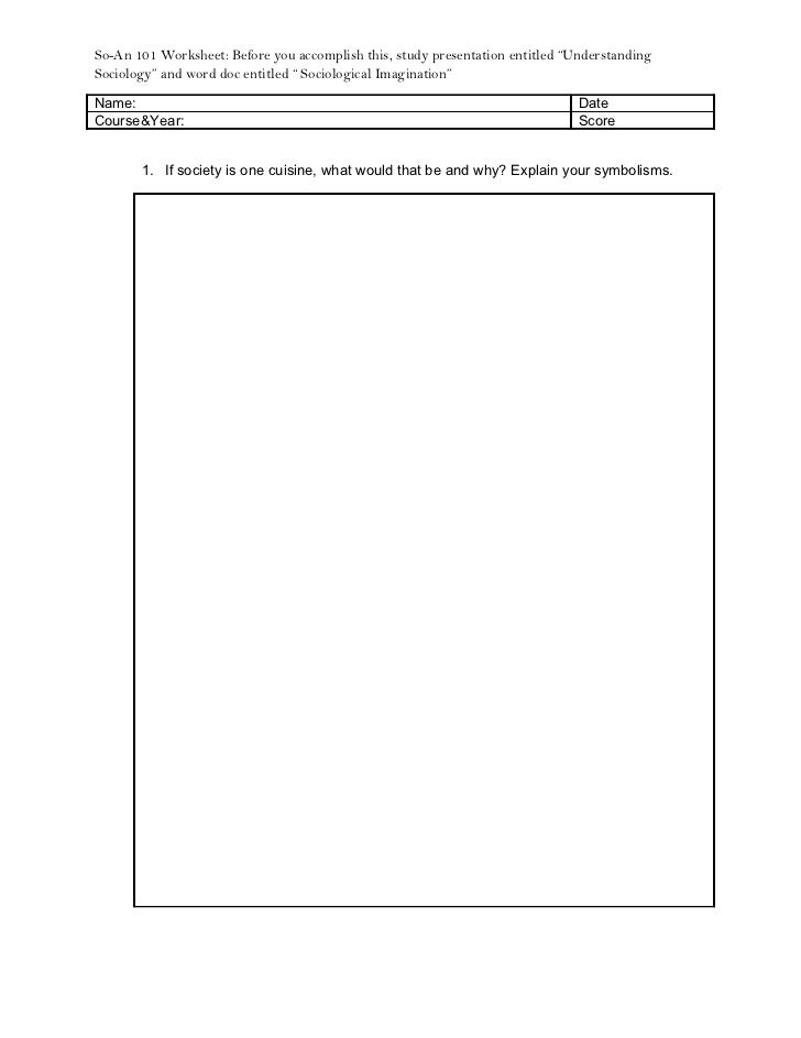 So-An worksheet