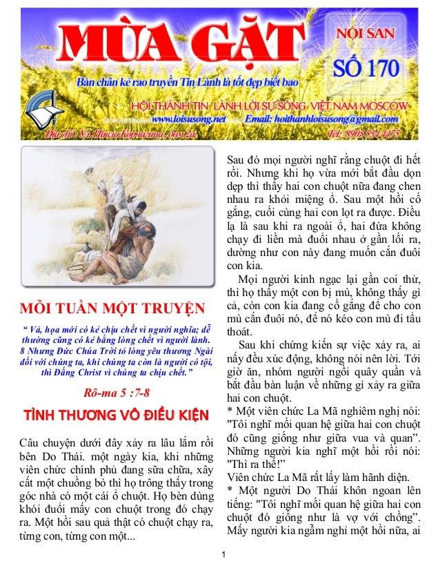 """1MỖI TUẦN MỘT TRUYỆN"""" Vả, họa mới có kẻ chịu chết vì người nghĩa; dễthường cũng có kẻ bằng lòng chết vì người lành.8 Nhưng..."""