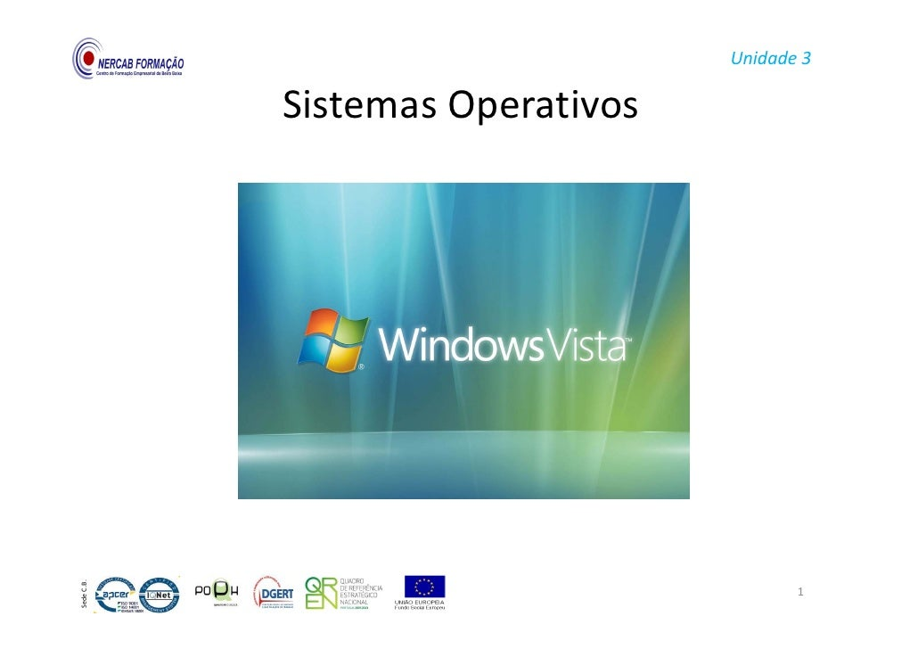 Unidade3               SistemasOperativos              Sistemas Operativos SedeC.B.                                  ...