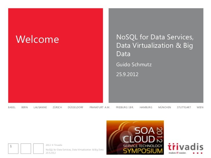 Welcome                                                                 NoSQL for Data Services,                          ...
