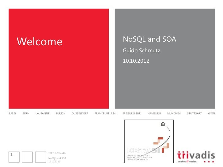 Welcome                                                       NoSQL and SOA                                               ...