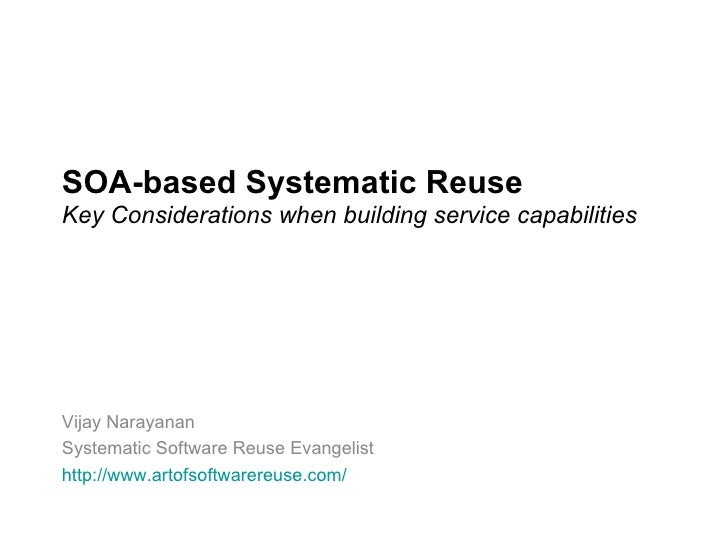 SOA-based Systematic Reuse