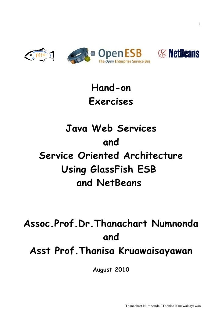 1            Hand-on            Exercises       Java Web Services               and  Service Oriented Architecture      Us...