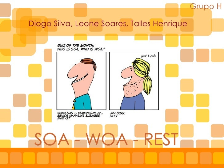 SOA - WOA - REST