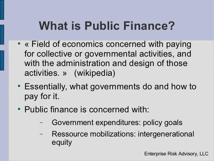 scope of public finance