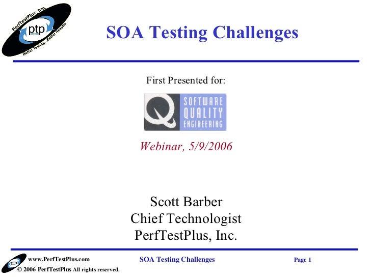 SOA Testing Challenges