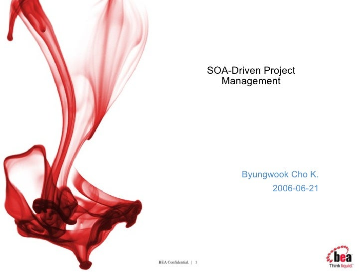 SOA-Driven Project Management Byungwook Cho K. 2006-06-21
