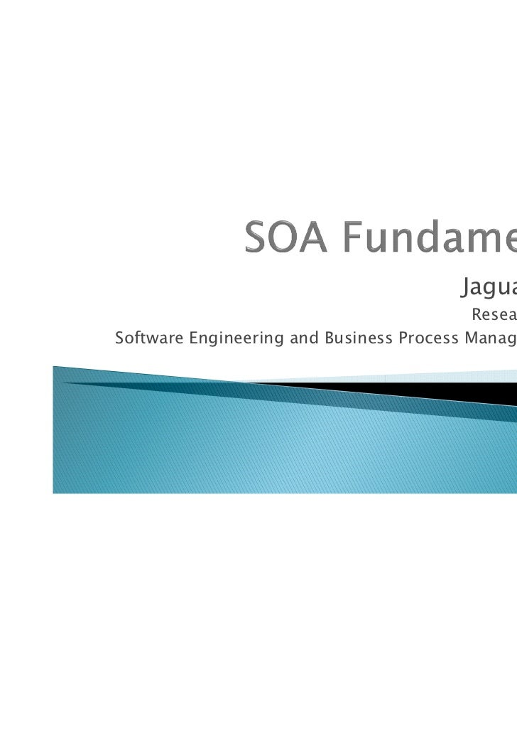 Service Oriented Architecture Fundamentals Of Architecture And Services