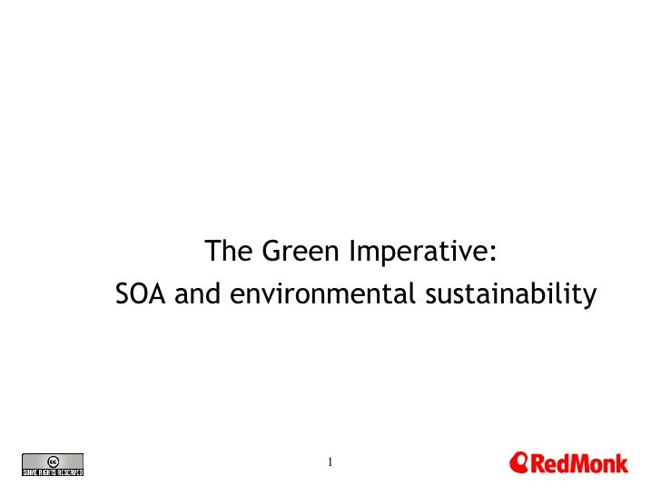 The Green Imperative:  SOA and environmental sustainability