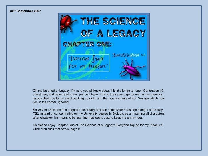 30th September 2007                   Oh my it's another Legacy! I'm sure you all know about this challenge to reach Gener...