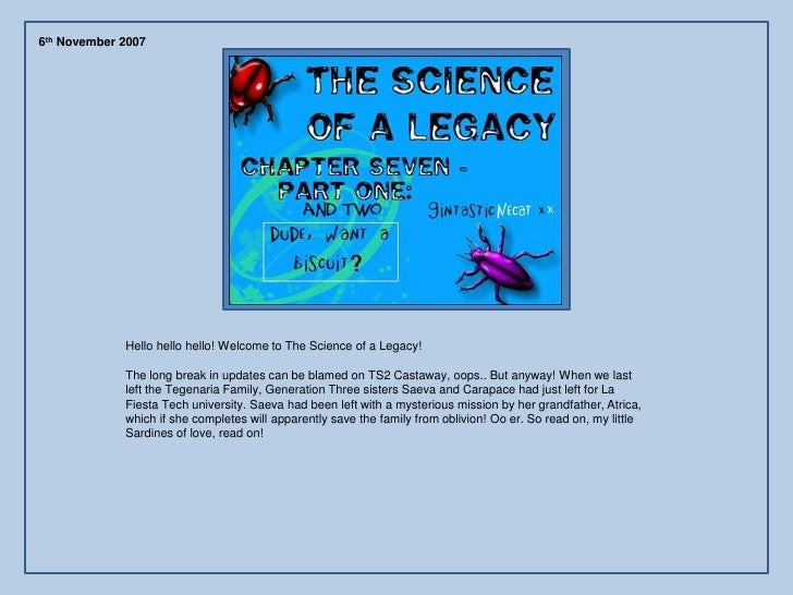 The Science of a Legacy: Chapter 7