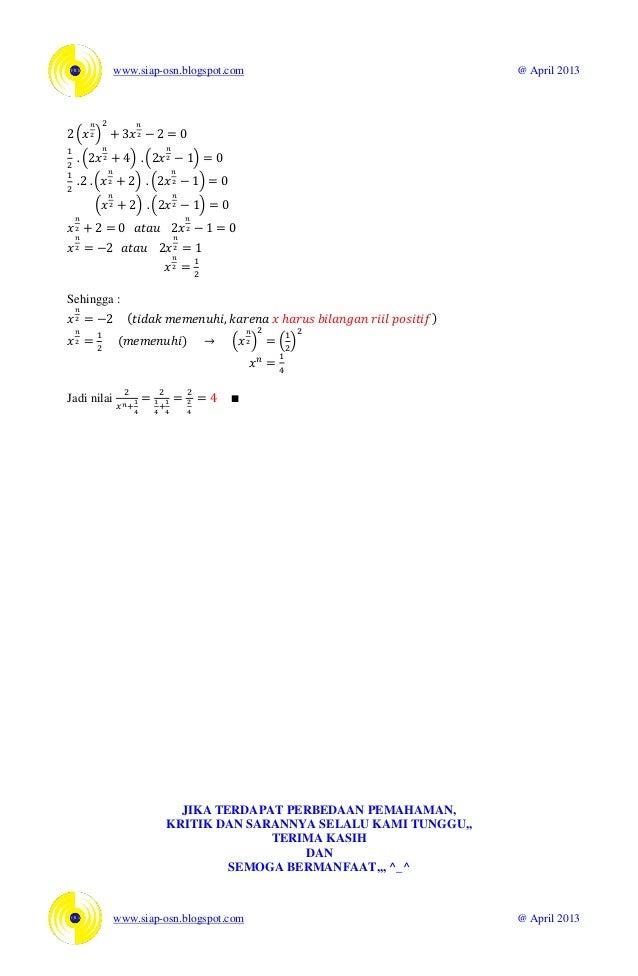 Soal Dan Pembahasan Osn Matematika 2011 Bagian A Isian Singkat Tingka