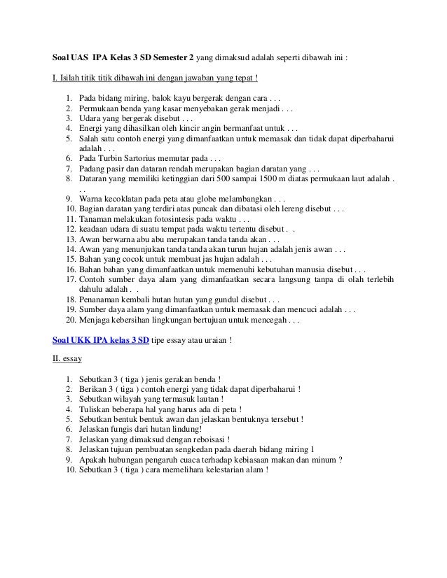 Soal Ips Kelas 3 Sd Ulangan Harian 1 Semester 1 Tp 2013 2014 Kls 5 Matematika Slideshare