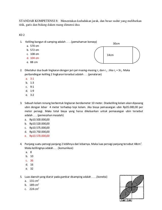 STANDAR KOMPETENSI 8: Menentukan kedudukan jarak, dan besar sudut yang melibatkantitik, garis dan bidang dalam ruang dimen...