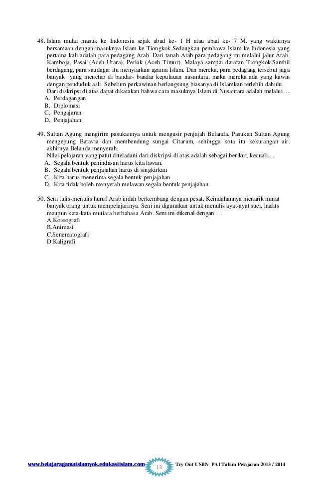 Soal Try Out Uasbn Pai Smp Paket 1 2015 Website Delapan Enam Smp Ymik