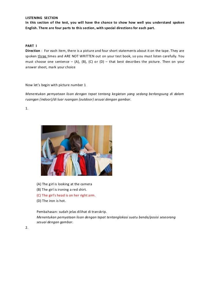 Soal ujian bahasa inggris smk 1