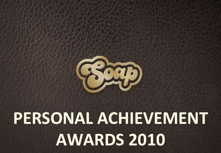 PERSONAL ACHIEVEMENT AWARDS 2010