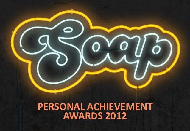 Soap Personal Achievement Awards 2012