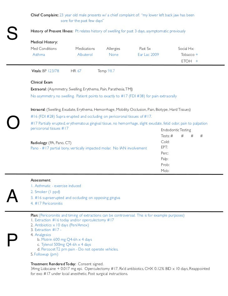 soap notes for medicl assistant Soooaap selectively expands soap by embedding it with easily remembered risk-reduction techniques including informed consent within notes encourages patients to take responsibility for their choices and improves information sharing there is no quick and effective antidote to such allegations the medical record.