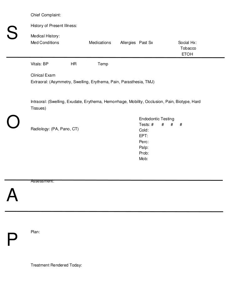 SOAP Notes Dentistry WORD ZzlgUd93  Notes Template Word