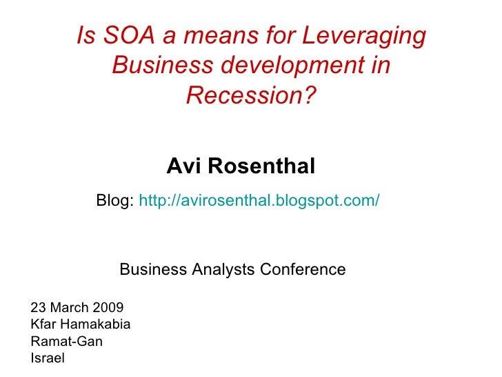 Soa Recession Conference 0309
