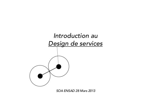 Introduction auDesign de services  SOA ENSAD 28 Mars 2013