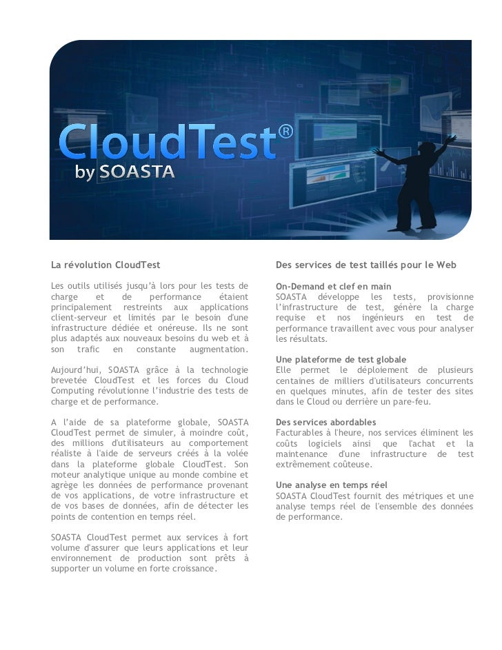 Soasta on demand brochure Francaise