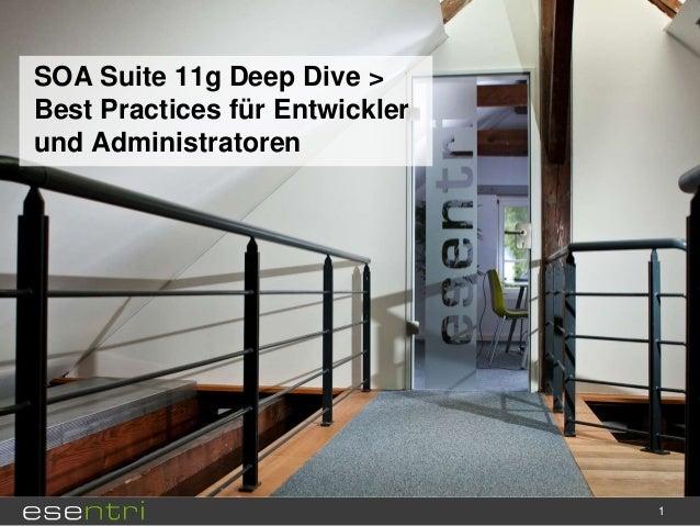 SOA Suite 11g Deep Dive > Best Practices für Entwickler und Administratoren  1