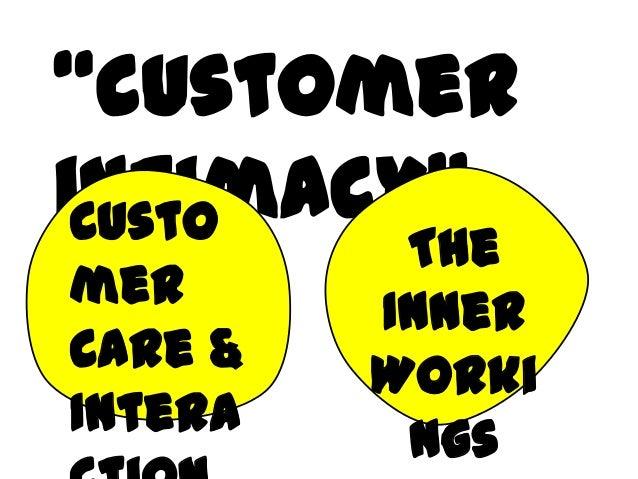 """customerintimacy""CustomerCare &InteraTheInnerWorkings"