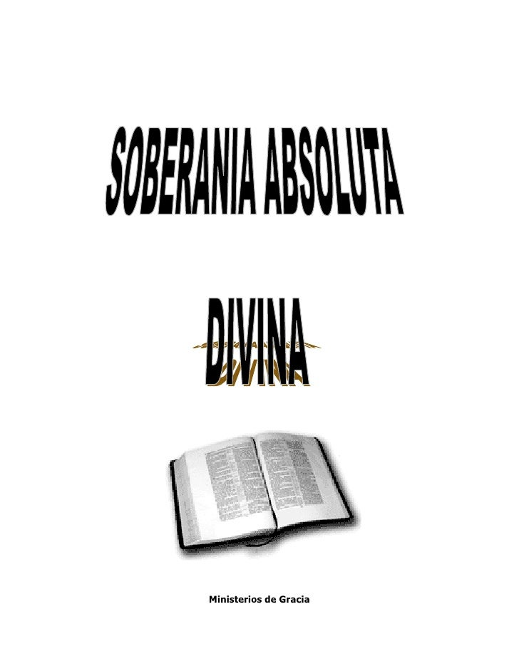 Soberanía Absoluta Divina