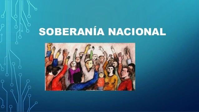 SOBERANÍA NACIONAL