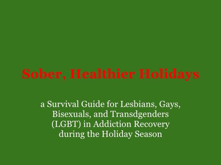 Sober Healthier Holidays