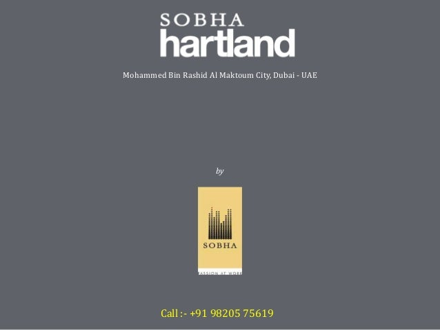 Sobha Hartland at Dubai, UAE by Sobha Developers Ltd. - Price, Review, Brochure