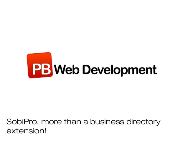 SobiPro, more than a business directoryextension!