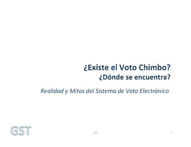 Realidad  y  Mitos  del  Sistema  de  Voto  Electrónico    0.0    1