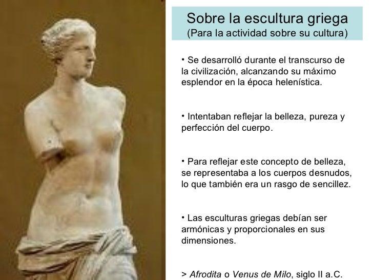 Escultura Griega Slideshare Sobre la Escultura Griega