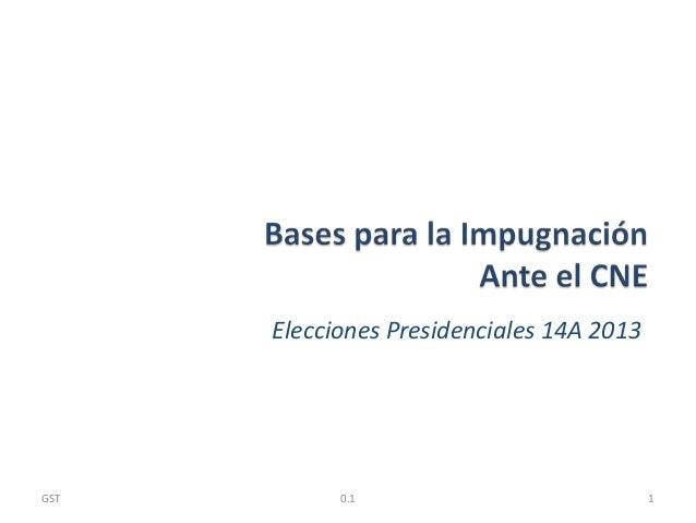 Elecciones Presidenciales 14A 201310.1GST