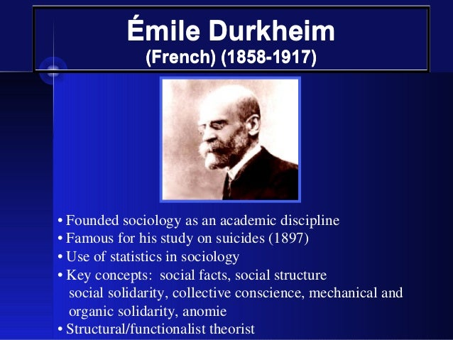 Could Durkheim be classed as a 'structuralist' ?