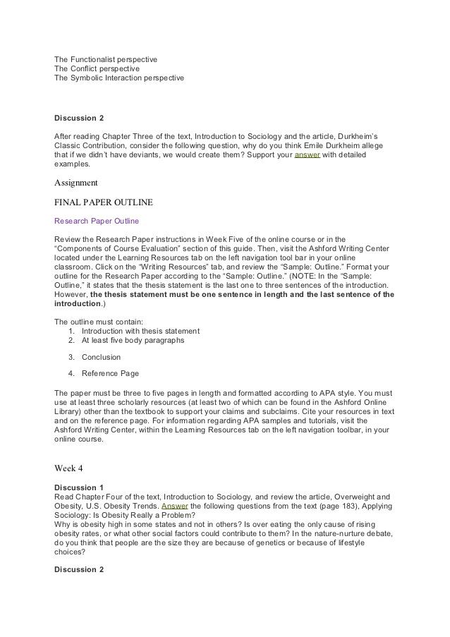 sociology assignment