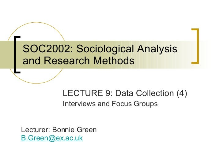 SOC2002 Lecture 9